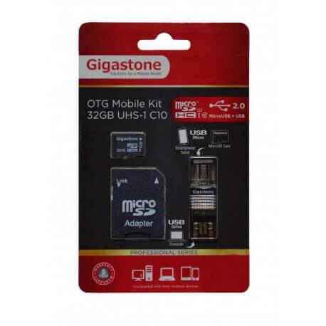 Κάρτα Μνήμης Gigastone MicroSDHC 32GB UHS-1 Class 10 Professional Series με SD Αντάπτορα