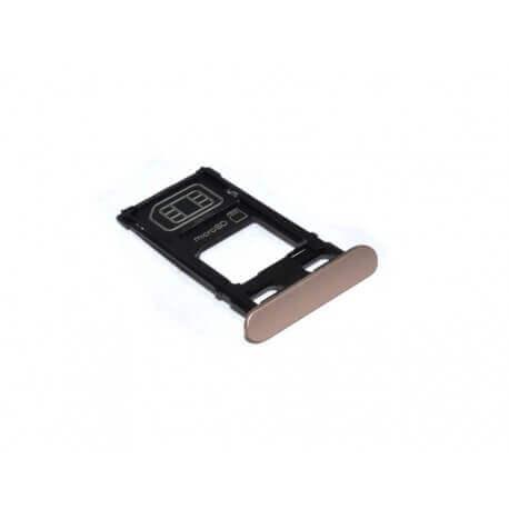 Βάση Κάρτας Sim/Μνήμης Sony Xperia X F5121 Χρυσαφί Ροζέ Original 1302-4833