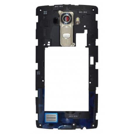 Μεσαίο Πλαίσιο LG G4 H815 με Buzzer, Κεραία και Τζαμάκι Κάμερας Χρυσαφί Original ACQ87895152