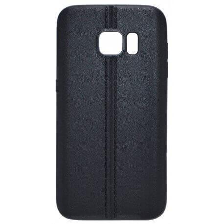 Θήκη TPU Ancus Leather Feel για Samsung SM-G920F Galaxy S6 Μαύρη
