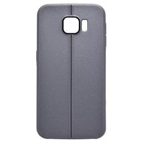 Θήκη TPU Ancus Leather Feel για Samsung SM-G920F Galaxy S6 Γκρί