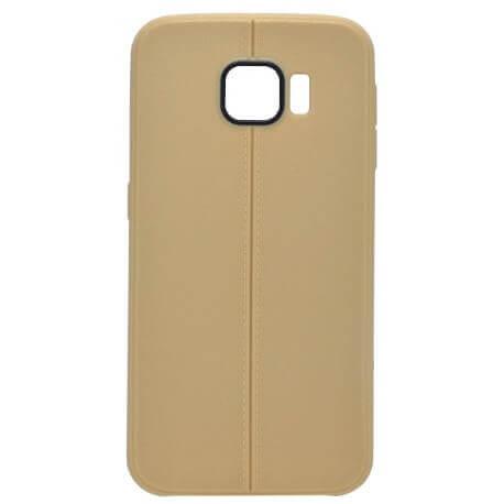 Θήκη TPU Ancus Leather Feel για Samsung SM-G920F Galaxy S6 Χρυσαφί