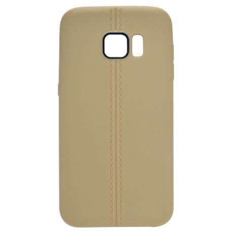 Θήκη TPU Ancus Leather Feel για Samsung SM-G930F Galaxy S7 Χρυσαφί