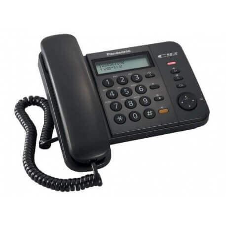 Σταθερό Ψηφιακό Τηλέφωνο Panasonic KX-TS580EX2B Μαύρο με Ανοιχτή Συνομιλία