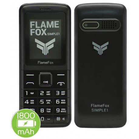 FlameFox Simple1 (Dual Sim) με Bluetooth, Κάμερα, Ραδιόφωνο, Φακό GR
