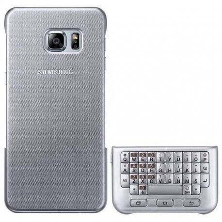 Θήκη Faceplate Samsung Keyboard Cover EF-CG928USEGWW για SM-G928F Galaxy S6 Edge+ Ασημί