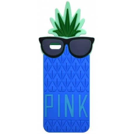 Θήκη Σιλικόνης Ancus Pineapple για Apple iPhone 6 Plus/6S Plus Μπλέ