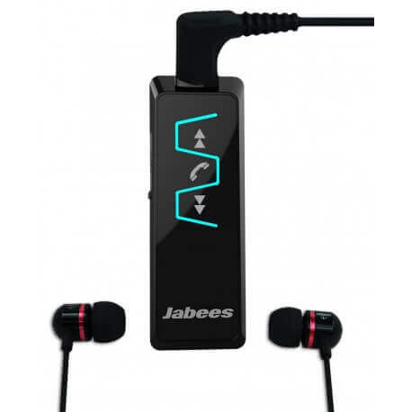 Bluetooth Hands Free Jabees IS901 Music Stereo Headset 5-in1 με Αποσπώμενα Ακουστικά 3.5mm Μαύρο
