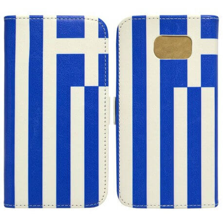 Θήκη Book Ancus Flag Collection για Samsung SM-G920F Galaxy S6 Ελλάδα